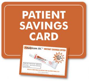 Patient savings card.